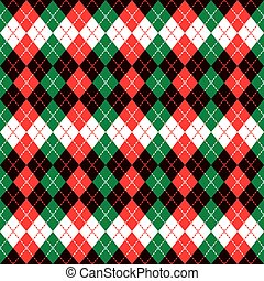 Holiday Argyle Design