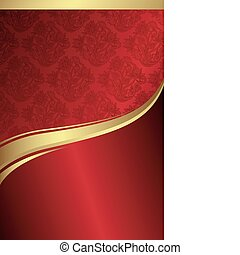 Holiday Background 1 - Illustration of abstract red and gold...
