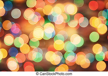 Holiday background blurry lights