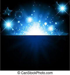 holiday background - bright night background with stars and ...