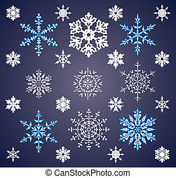 holiday background of snowflakes