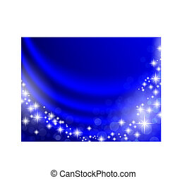 holiday background - holiday blue curtain with shining stars...