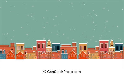 Holiday background on the sky with winter footage