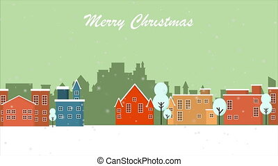 Holiday background on the sky with winter footage New year and Christmas winter landscape background footage