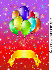 Holiday background with balloons