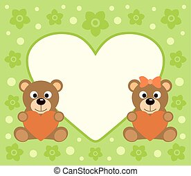 Holiday background with bears