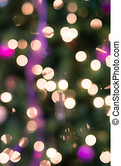 Holiday background with blurred lights