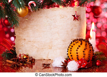 Holiday background with candles.