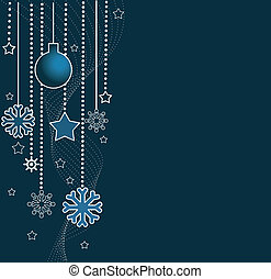 Holiday background with Christmas ornament