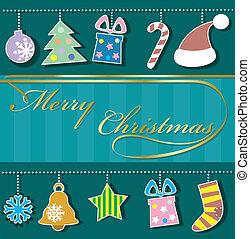 Holiday background with Christmas o