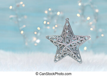 Holiday background with christmas star.