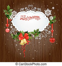 Holiday background with christmas decoration