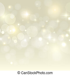 Holiday background with golden bokeh vector