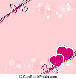 holiday background with hearts for Valentine's Day