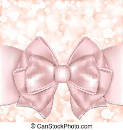 Holiday background with pink bow