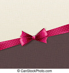 Holiday background with polka dots bow