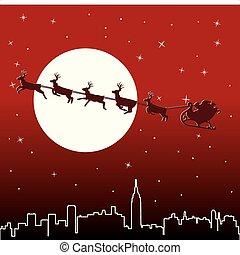 holiday background with santa - urban holiday background...