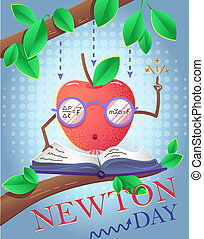 holiday banner Newton Day - educational banner for the...