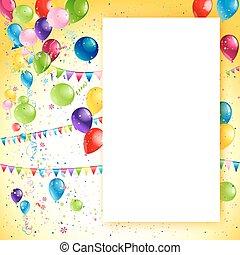 Holiday birthday frame