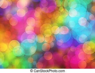Holiday blur manycolored rounds bokeh backgrounds in Chaotic Arrangement