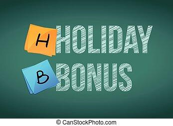 holiday bonus message illustration
