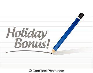 holiday bonus message illustration design