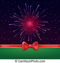 Holiday bright salute background with light rays