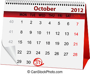 holiday calendar Halloween