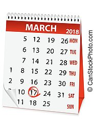 holiday calendar in St Patrick's Day 2018