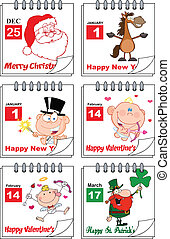 Holiday Calendars 2. Set Collection