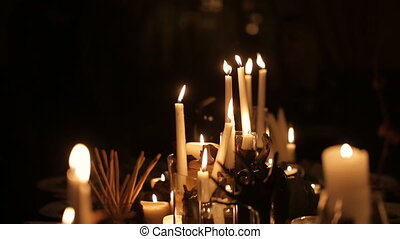 holiday candles for Halloween