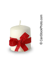 holiday candlestick isolated on a white background