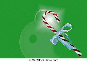 Holiday Candy - Bow on candy cane.