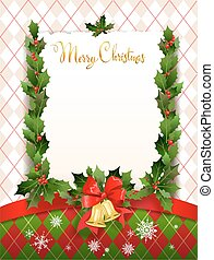 Holiday card with christmas decoration