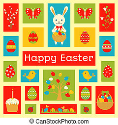 Holiday card with Easter element