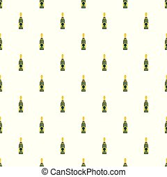 Holiday champagne pattern seamless vector