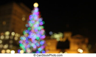 Holiday Christmas Tree in Downtown - Holiday Christmas Tree...