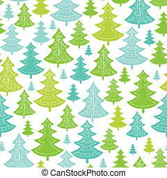 Holiday Christmas trees seamless pattern background - Vector...