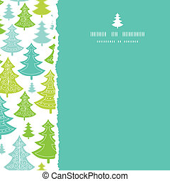 Holiday Christmas trees square torn seamless pattern background