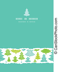 Holiday Christmas trees vertical torn seamless pattern background