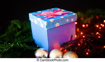 Holiday christmas with footage gift boxes for Christmas day...