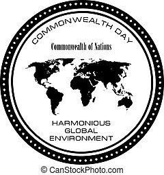 Holiday Commonwealth Day - Commonwealth Day - Symbol of a...