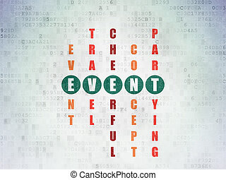 Holiday concept: Event in Crossword Puzzle