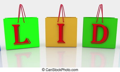 Holiday concept on shopping bags