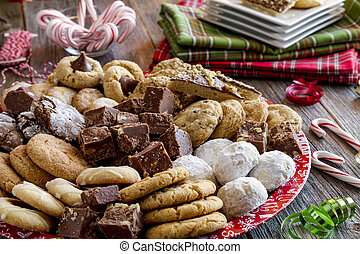 Holiday Cookie Gift Tray with Assorted Baked Goods - Holiday...