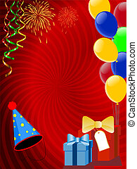 Holiday decoration with ballons