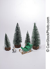 Holiday Decorations Isolated On White Background. ,  Christmas decorations