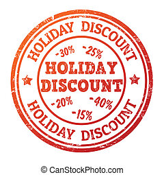 Holiday discount stamp