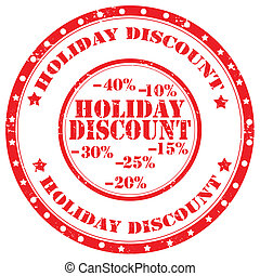 Holiday Discount-stamp