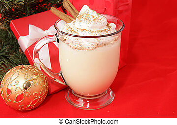Holiday Eggnog with Copyspace